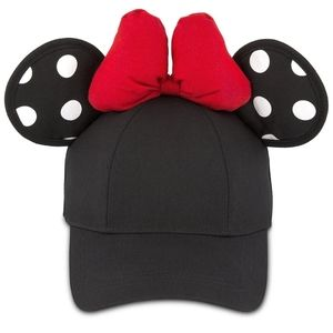 Minnie Mouse Polka Dot Baseball Cap with Bow
